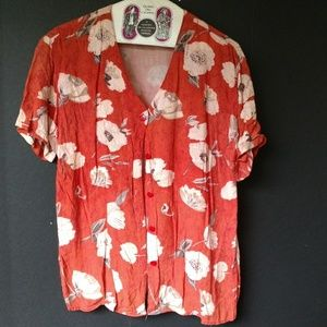 Trendy Looks Bright Rayon Floral Top